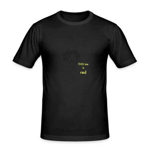 red - Men's Slim Fit T-Shirt