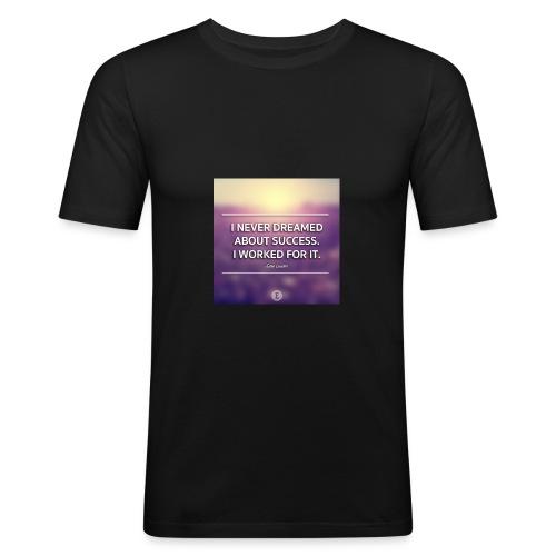 1440698865_graphic-quote-estee-lauder - Herre Slim Fit T-Shirt