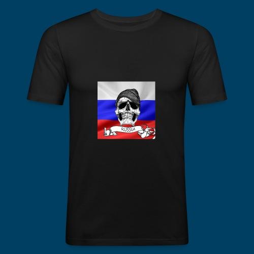 russ1anSkull - Slim Fit T-shirt herr