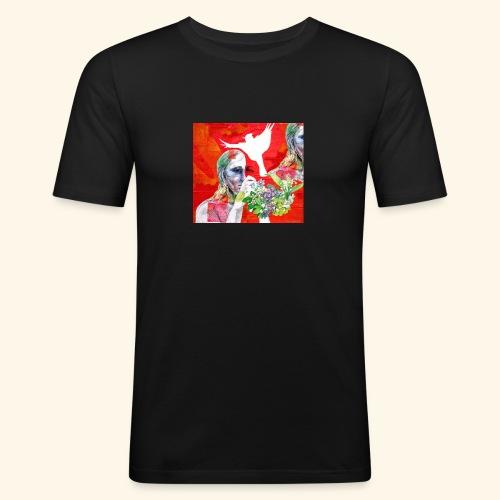 Lady and a dream of a bird - Miesten tyköistuva t-paita