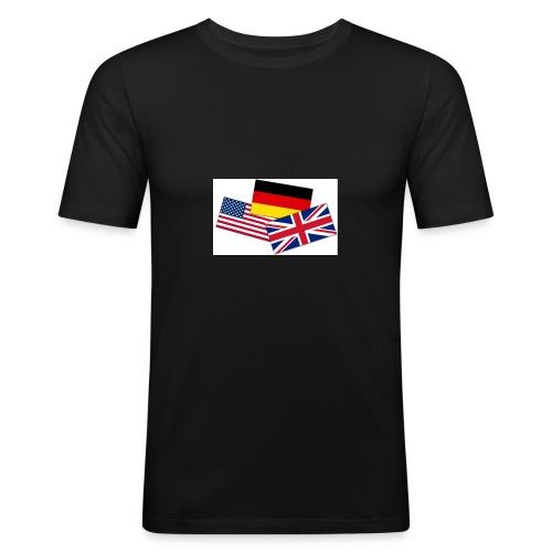 Englisch_Deutsch_Unterhaltung_Prod - Männer Slim Fit T-Shirt