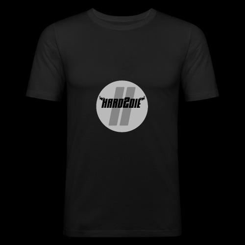 Hard2die Logo - Männer Slim Fit T-Shirt