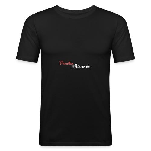 Parallax Mineworks logo - Men's Slim Fit T-Shirt