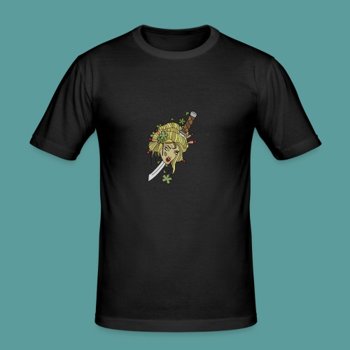 Samurai-No-More - Men's Slim Fit T-Shirt