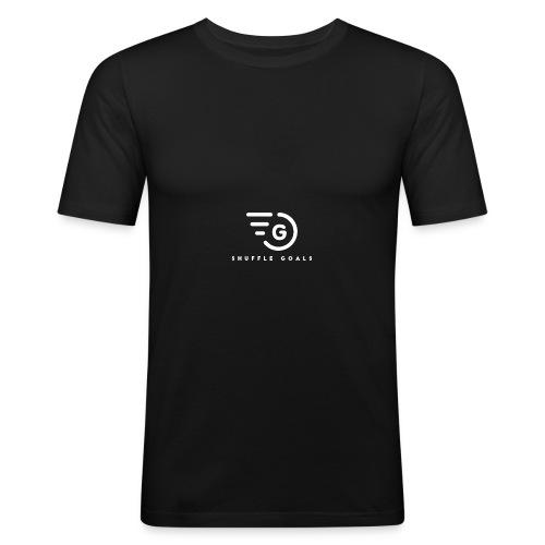 Shuffle Goals - Black - Männer Slim Fit T-Shirt