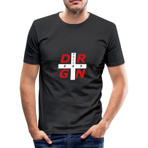 DRGN LOGO1 - Männer Slim Fit T-Shirt