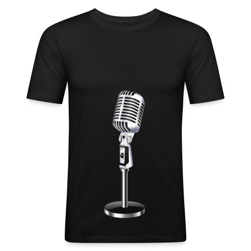 En Mikrofon T-Skjorte - Slim Fit T-skjorte for menn