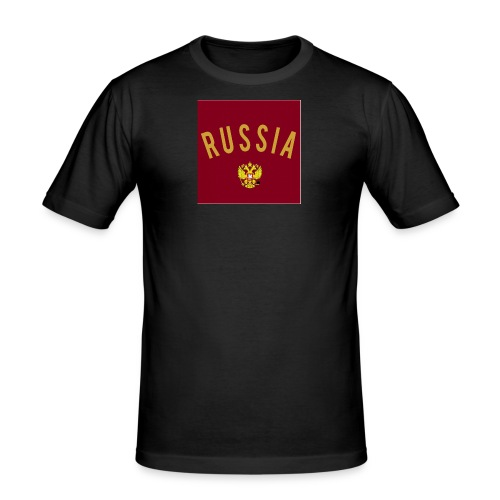 Russia Logo - Männer Slim Fit T-Shirt