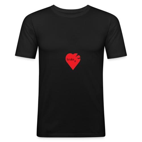 broken heart - Männer Slim Fit T-Shirt