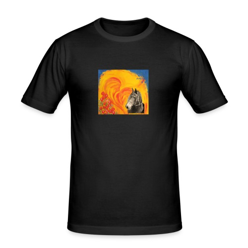 Pferd mit Herz - Männer Slim Fit T-Shirt