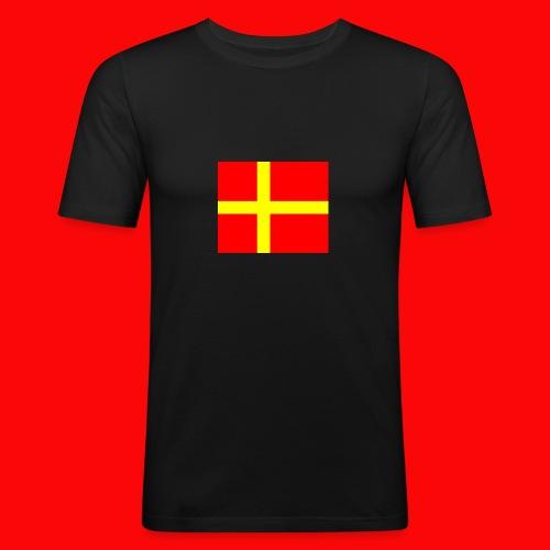 skanes flagga - Slim Fit T-shirt herr