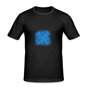 blue-transparent - Männer Slim Fit T-Shirt