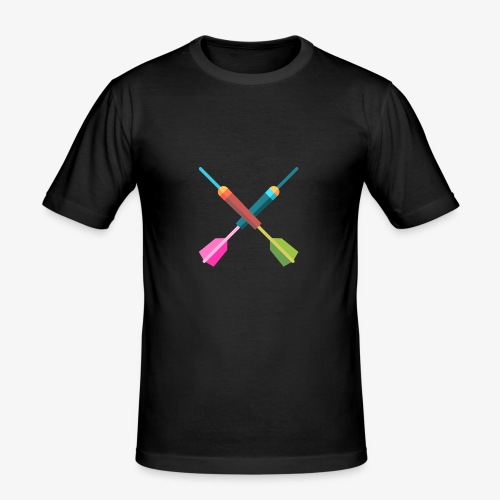 Darts Bunt - Männer Slim Fit T-Shirt