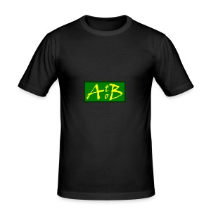 AtoB Logo green / yellow - Men's Slim Fit T-Shirt