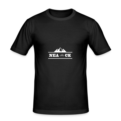 NeaCK hvit logo - Slim Fit T-skjorte for menn