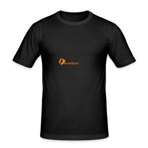 Logo DomesSport Orange noBg - Männer Slim Fit T-Shirt