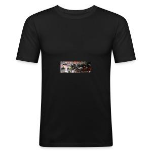Facebook Titelbild bearbeitet - Männer Slim Fit T-Shirt