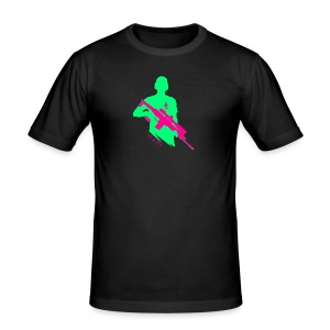 Knallige Farben - Shooter - Let's Shoot - Männer Slim Fit T-Shirt