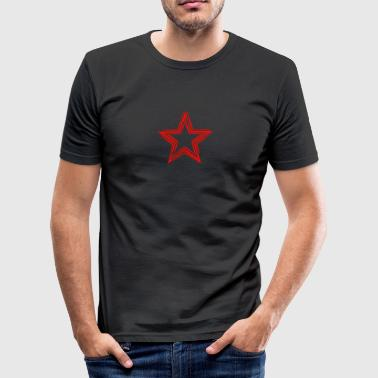 Star Red Shirt - Men's Slim Fit T-Shirt