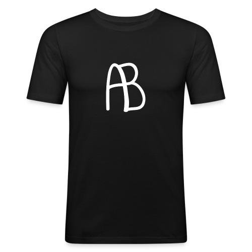 AB Hvit - Slim Fit T-skjorte for menn