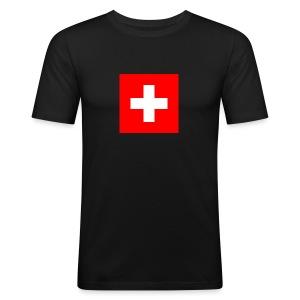 Flag_of_Switzerland - Männer Slim Fit T-Shirt