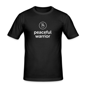 peaceful warrior - Männer Slim Fit T-Shirt