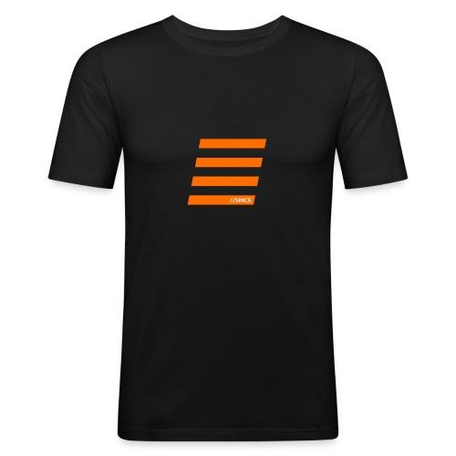 Orange Bars - Männer Slim Fit T-Shirt