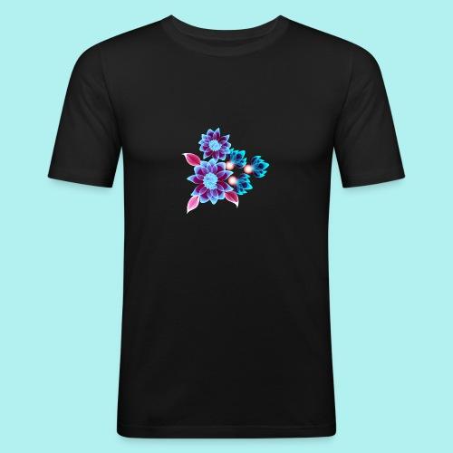 Hypnotic flowers - T-shirt près du corps Homme
