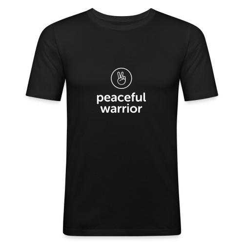 peaceful warrior - Männer Slim Fit T-Shirt