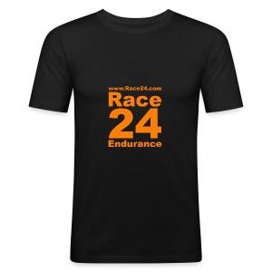 Race24 Logo in Orange - Men's Slim Fit T-Shirt