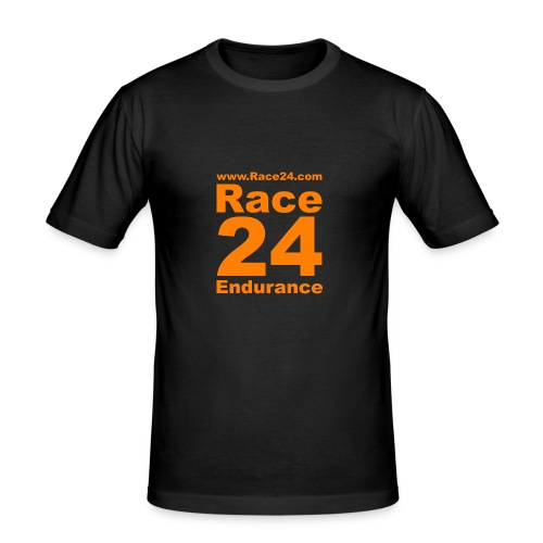Race24 Logo in Orange - Men's Slim Fit T-Shirt
