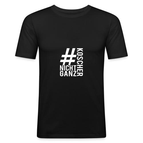 #nichtganzkoscher Merch Weiß - Männer Slim Fit T-Shirt