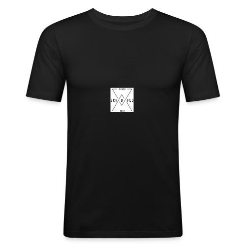 Ben Scho YT box logo - Men's Slim Fit T-Shirt