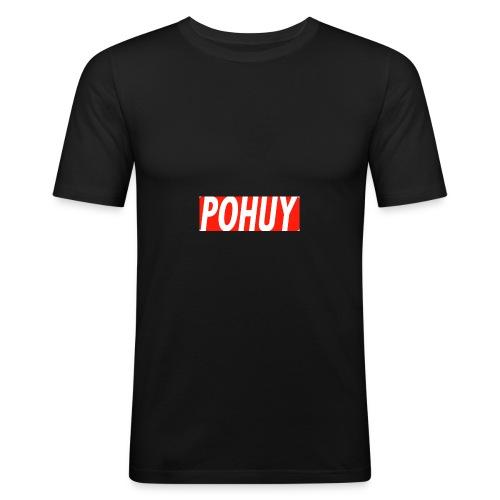 POHUY LOGO RED - Männer Slim Fit T-Shirt