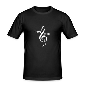 treble_maker-white - Men's Slim Fit T-Shirt