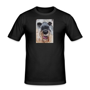 schnauzer - Herre Slim Fit T-Shirt