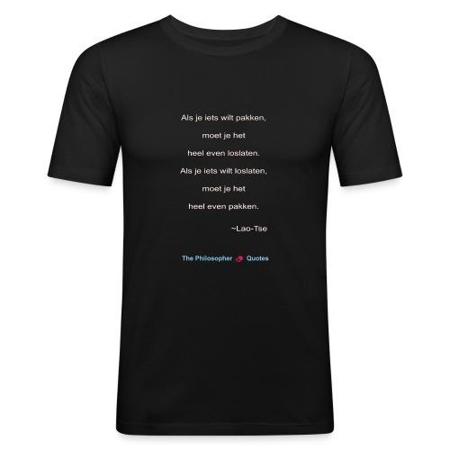 Lao Tse Pakken en loslaten w - slim fit T-shirt
