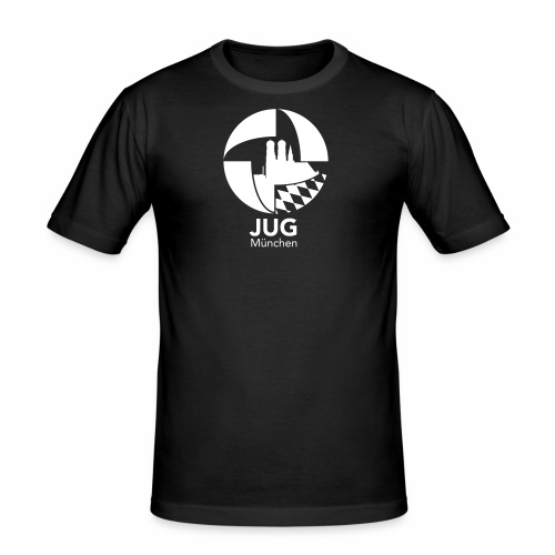 JUG München Logo einfarbig - Männer Slim Fit T-Shirt