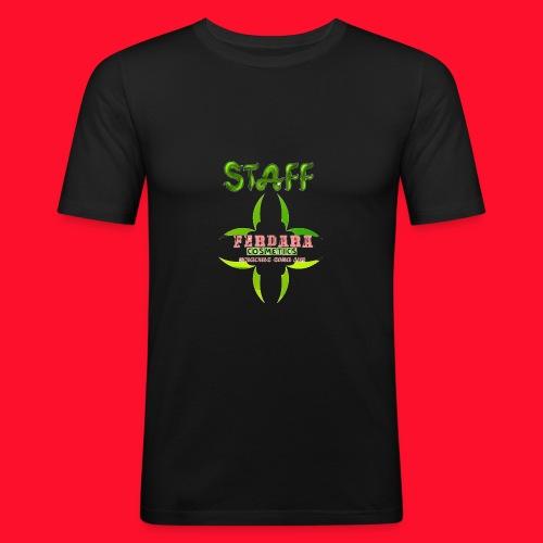 logo_de_ferdara_cosmetics_veracruz_zona_sur. - Camiseta ajustada hombre