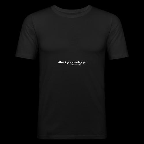 Trigger Warning Motto! - Men's Slim Fit T-Shirt