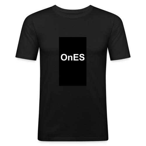 OnES Black - Männer Slim Fit T-Shirt