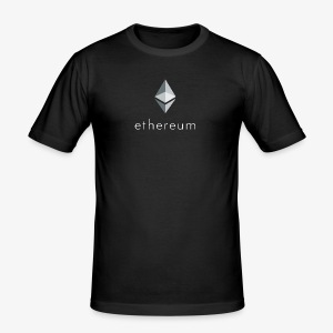Ethereum Logo (Invers) - Männer Slim Fit T-Shirt