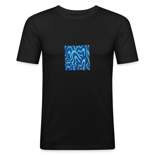 Wavy blue - T-shirt près du corps Homme