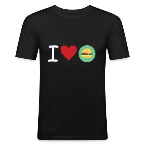 Amor de hamburguesa - Camiseta ajustada hombre