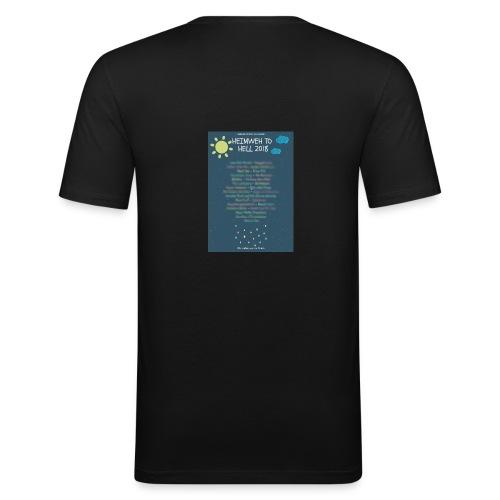 Heimweh to Hell 2018 jpg wisch - Männer Slim Fit T-Shirt