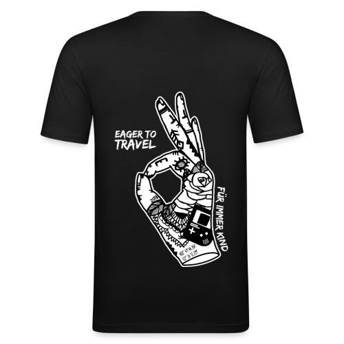 Eager To Travel - Für immer Kind - schwarz - Männer Slim Fit T-Shirt