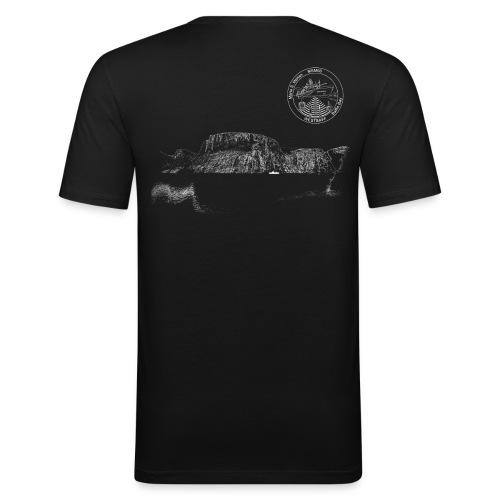 MSM66 fjord black - Männer Slim Fit T-Shirt