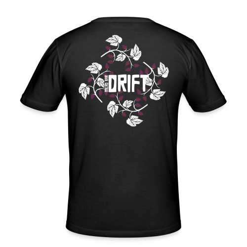 Drift Logo Black Shirt - Men's Slim Fit T-Shirt