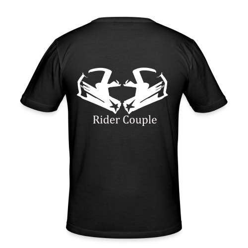 Rider Couple - Männer Slim Fit T-Shirt