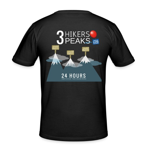 3 Hikers 3 Peaks - Men's Slim Fit T-Shirt